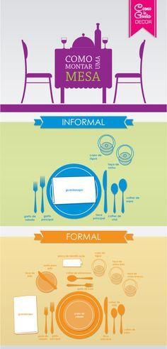Você sabe como montar uma mesa de jantar ou almoço de um jeito formal e informal sem perder a elegância? Então, confira esse esse artigo.