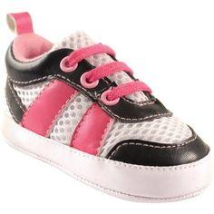 Luvable Friends Newborn Baby Girls Athletic Shoe, Newborn Girl's, Size: 0 - 6 Months, Black