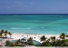 Lucaya Beach, Freeport, Bahamas...this beach was gorgeous. The water is so clear, and the waves are smooth. :)