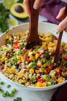 A hearty, refreshing quinoa salad that's brimming with fresh goodness. It's healthy and perfectly satisfying. Goes perfectly with grilled chicken.