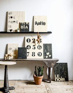 Poster | underlayment | VT wonen | wood | DIY | Black | Home