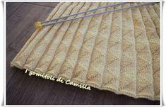 Come fare le pieghe con i ferri da maglia Crochet Scarves, Knit Crochet, Bind Off, Knitting Videos, Knitting Designs, Diy And Crafts, Plaid, Carino, Creative