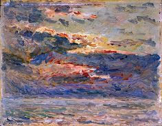 Sunset on the Sea, 1910Maxime Maufra