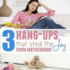 Three things that steal joy from motherhood and how to overcome them biblically and practically speaking so we can enjoy our family again!