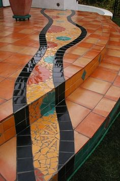 Mosaic Floor Design.  Love this concept!  I'd rather do it in hardwoods though...