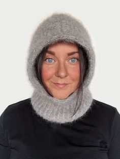 Drops Alpaca, Alpaca Wool, Knitted Balaclava, Knitted Hats, Warm Headbands, Big Needle, I Cord, Tromso, Hoodie Pattern
