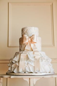 Dress Cake-absolutely adorable for your wedding cake or bridal shower dessert! #wedding #bridal #weddingcakes