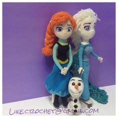 North Mountain Snowqueen and Anna Amigurumi by LikeCrochet on Etsy, $20.65 (other Frozen patterns as well)