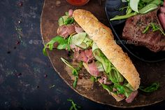 Sandwich of whole wheat bread with roast beef, cucumber and arugula. by Timolina on PhotoDune. Sandwich of whole wheat bread with roast beef, cucumber and arugula. Types Of Sandwiches, Cucumber Sandwiches, Whole Wheat Bread, Roast Beef, Arugula, Business Marketing, Content Marketing, Alter Ego, Top View