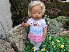 Puppenkleidung - Puppenkleidung 2- teiliges Set-Handarbeit - ein Designerstück von Marions-Strick-und-Bastelecke bei DaWanda