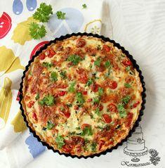 Kermaruusu: Kinkku-kasvispiirakka Mozzarella, Quiche, Good Food, Breakfast, Recipes, Morning Coffee, Quiches, Ripped Recipes