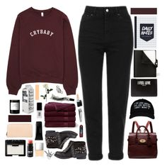 """""""☾ i gave you something, but you gave me nothing"""" by thundxrstorms ❤ liked on Polyvore featuring Hermès, Topshop, Smashbox, Mulberry, Givenchy, Brooks Brothers, Sephora Collection, MAC Cosmetics, Butter London and Aesop"""