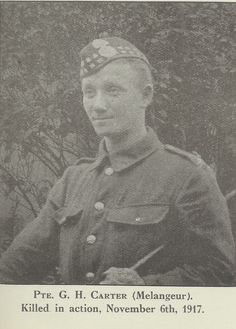 G Carter: one of the many men from our York factory who gave their lives in the First World War.