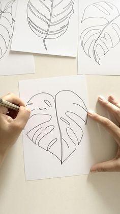 Art Deco Illustration, Creative Illustration, Graphic Design Illustration, Minimalist Graphic Design, Graphic Design Posters, Inspirational Artwork, Leaf Drawing, Drawing Drawing, Pattern Art