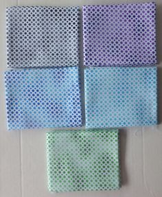 Cotton Fabric,Quilt~OMBRE DOTS~Fat Quarter Bundle of 5~ Group #2~Fast Shipping FQ241