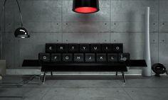 QWERTY Sofa http://www.design-miss.com/qwerty-sofa/ L'azienda ZO_loft ha realizzato questo splendido #divano inspirato ai tasti di una #tastiera da #computer. Braccia conserte e guancia schiacciata sui #tasti …