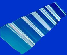 Clear Greca Corrugated polycarbonate sheets. Excellent for patio covers and greenhouses in temperate areas.