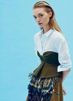 monsieur-j:  Serenity Now - Gemma Ward - Sunday Style October 2014