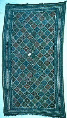 TEXTILES - Embroidered carpet, XIXth century, Erevan, State Historical Museum. Photo: Gulbenkian Foundation Archives