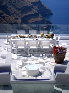 Breakfast with a view!   At Hotel Kallisto in Santorini