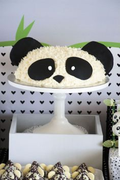 "Panda Bear cake from a Panda Bear ""Panda-monium"" Birthday Party by Joyful Invitations"