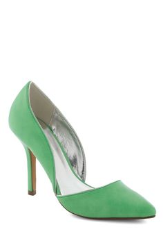 Lime and Again Heel - Green, Solid, High, Formal, Prom, Wedding, Party, Cocktail, Vintage Inspired, Faux Leather