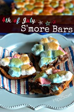 S'mores Bars (Easy 4th of July Dessert) by Hip2Save.com