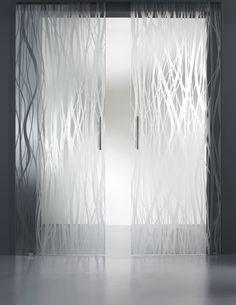 vitrealspecchi Double sliding door in nuanced satin (not pictured)