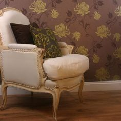 Vintage riva wallpaper chocolate lime