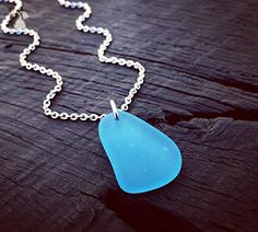 Pacific Blue Sea Glass Pendant Necklace | Sea Glass Jewelry | Gift For Sea Glass Lover | Beach Lover Jewelry Gift | Nautical Jewelry Gift - Wedding nacklaces (*Amazon Partner-Link)