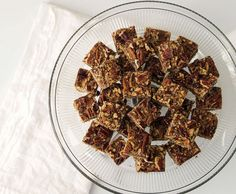 Salty pecan bars with bourbon and chocolate