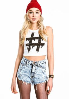 Hashtag Crop Top #hashtag #croptop #graphic #print #grunge #edgy #tanktop #loveculture