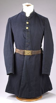Civil War Frock Coat of 1st Lieutenant J. M. Hubbard in Co. K of the 11th Kansas Cavlary.