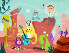 Space concert on Behance