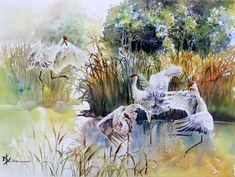 birdWc Watercolor Artists, Watercolor Bird, Watercolor Animals, Artist Painting, Watercolor Paintings, Watercolors, Artist Workshop, Painting Workshop, Jackson's Art