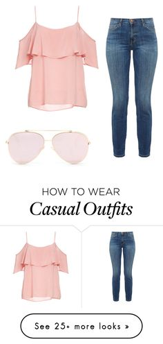 """Casual ruffles"" by beautyloverforever1 on Polyvore featuring BB Dakota and Current/Elliott"