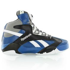 new arrival 0828e b2c9e reebok SHAQ ATTAQ TEAM DARK ROYAL BLACK CARBON WHITE