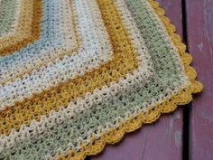 crochet-shawl, made with natural dyed yarn by Kristín Hrund