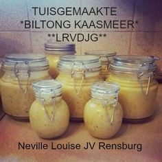 LEKKER RESEPTE VIR DIE JONGERGESLAG: KAASSMEER TUISGEMAAK Different Recipes, Other Recipes, Relish Recipes, Banting Recipes, South African Recipes, Homemade Cheese, Cheese Spread, Biltong, Specialty Foods