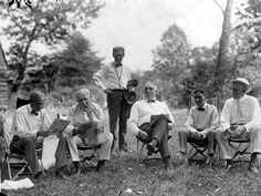 Henry Ford, Thomas Edison and Harvey Firestone often vacationed together. This 1921 photo from a camping trip in Hagerstown, Md., featured Henry Ford, left, Thomas Edison, George Christian (secretary to President Harding), President Warren Harding and Harvey Firestone.  The Detroit News archives