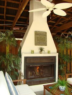$200 outdoor fireplace DIY - would love this off our sunroom! My parents made one of these and it is awesome!