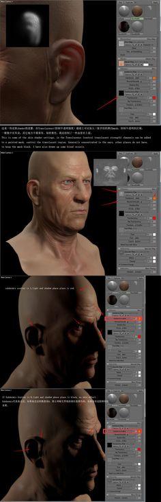 skin shader realtime render tips Zbrush Tutorial, 3d Tutorial, Sculpting Tutorials, Art Tutorials, Zbrush Render, Types Of Drawing, Skin Shades, Modeling Tips, Anatomy Study