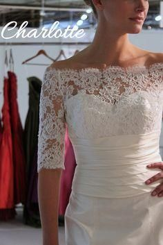 ... with wide French Alencon lace.