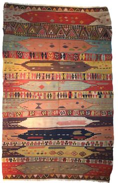 Konya Kilim. an interesting combination of scale within the design elements.