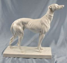 Rare Large greyhound figurine sighthound Herend porcelain dog perfect figure