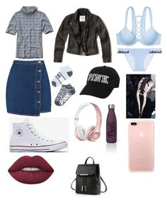 """""""Chill Bill ☠🔪"""" by okunicorn on Polyvore featuring Boohoo, Hollister Co., Converse, Beats by Dr. Dre, Lime Crime and Victoria's Secret"""
