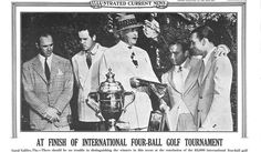 On this day, In 1941 Ben Hogan & Gene Sarazen team up during the final round to win the Miami Four Ball Tournament