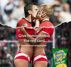 Last year, Largo Foods who produce Irish chip brand Hunky Dorys strapped models into skimpy sport gear and had them play rugby for an outdoor ad campaign