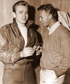 James Dean the Giant with Tab Hunter