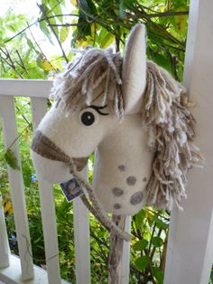 'Ash' Genuine NOBEL STEED hobby horse. www.facebook.com/nobelsteed www.nobelsteed.felt.co.nz www.piece-makers.co.nz